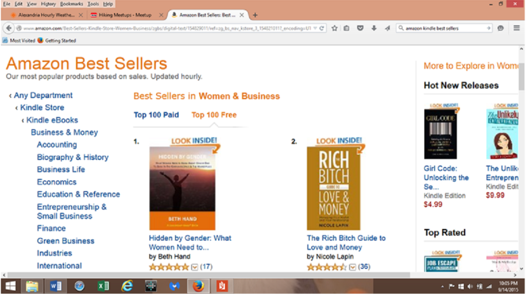 #1 in Amazon - Hidden by Gender_Beth Hand
